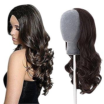 Amazon.com   Remeehi 3 4 Half Wig Brazilian Remy Human Hair Wigs ... a9b858ee1