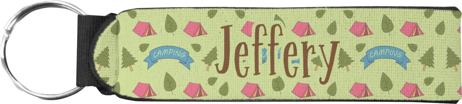 Summer Camping Neoprene Keychain Fob (Personalized)