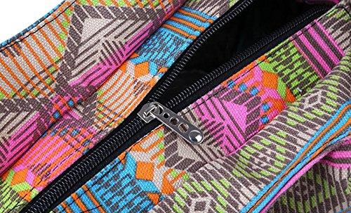 Porté Femme Épaule de Sac Mode 5 Impression Casual Sac Plage en Ethnique Style Fille de Courses pour Multicolore 06 pour Sac ALL Toile afEE8qTw
