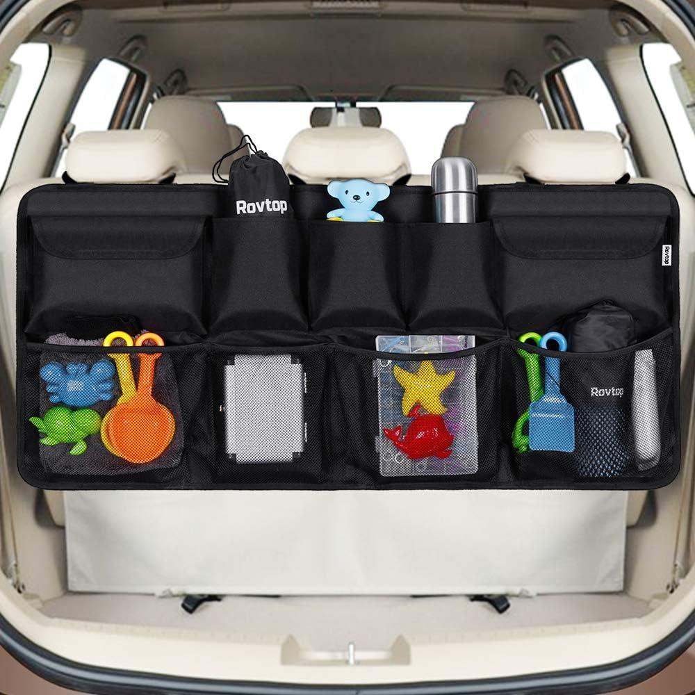 Rovtop Kofferraum Organizer Auto Organizer Organizer Auto Organizer Kofferraum Organizer Netz Aufbewahrung Mehrere Taschen Für Sitz Baumarkt