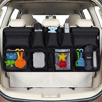 Rovtop Organizer Bagagliaio Auto, Borsa per Bagagliaio Auto,Organizer per Bagagliaio per SUV e MPV, 9 Tasche per Riporre Gadget Auto, Tenere la Auto