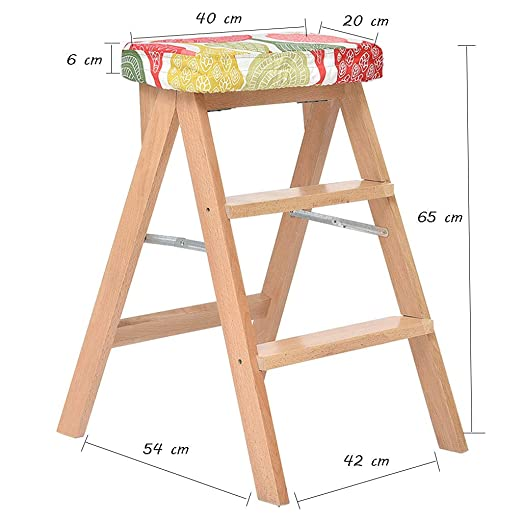 SONGTING Step stool Escalera de Taburete Plegable de 2 ...