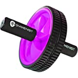 Abdominal Exercise Ab Wheel Roller with Foam Handles, Great Grip, Double Wheels, Top Professional Quality