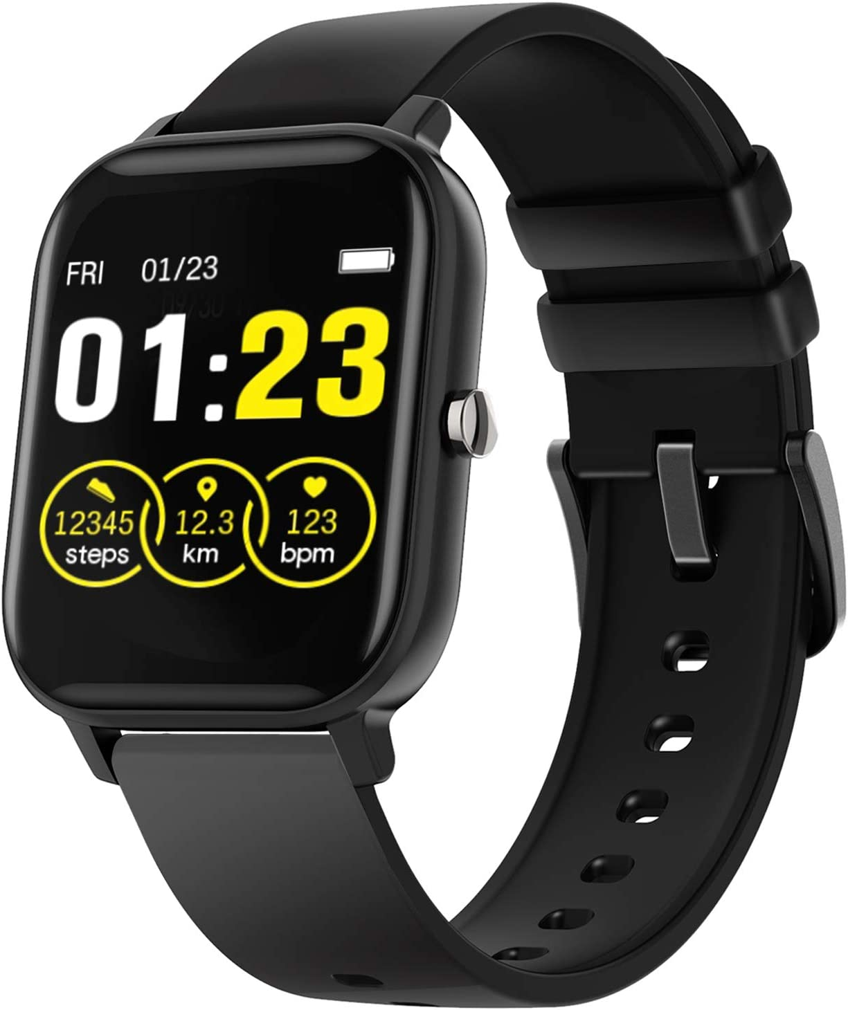 Android Smart Watch, iPhone Compatible Smartwatch for Women Men Fitness Tracker with Heart Rate Blood Pressure Monitor Sleep Monitor, Activity Tracker with Pedometer, IP67 Waterproof Fitness Watch