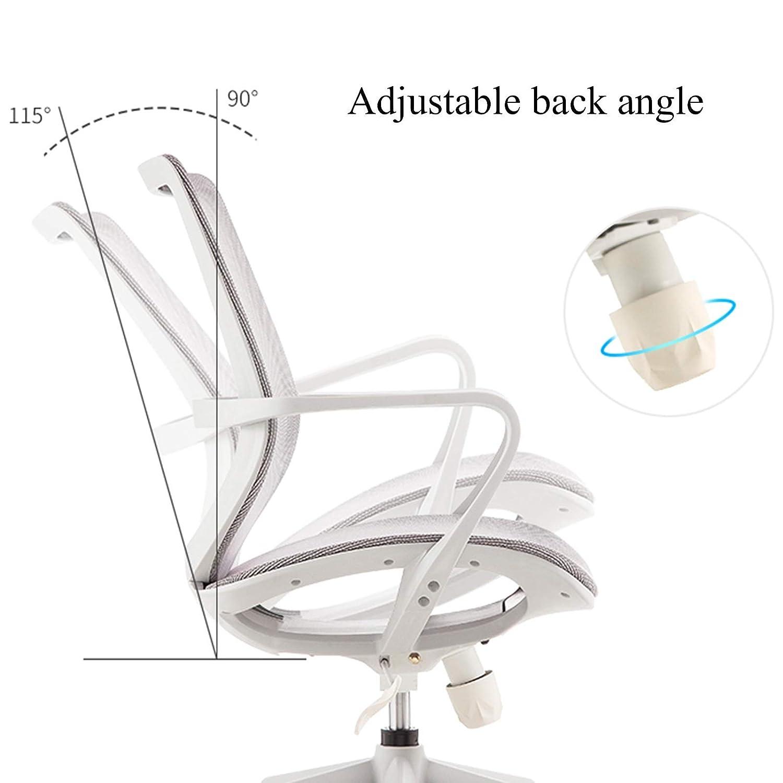 YYL kontorsstol höjd justerbar kontor svängbar stol, ergonomisk dator skrivbordsstol, svart svängbar stol (färg: Stil1) Stil1