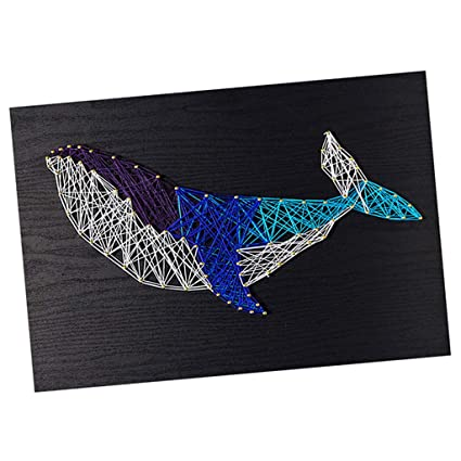 63b529dd5 Amazon.com: Baosity DIY String Art Starter Kit Blue Whale Craft Home ...