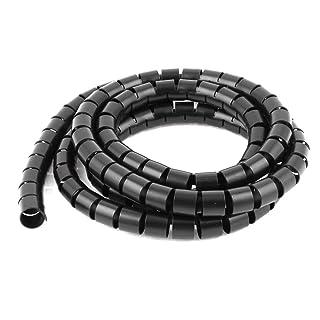 Flexible Tubo espiral de alambre del cable del abrigo de PC Cable de Gestión 2M 6.5 pies Negro