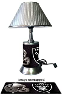Oakland Raiders Lamp With Chrome Shade