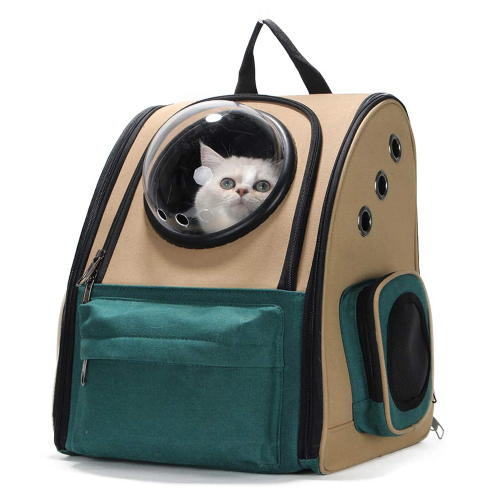 B XDYFF Pet Carrier Backpack for dog and cat Space Capsule Bubble Design Waterproof Soft-Sided Handbag Backpack for Travel Hiking Camping Two styles