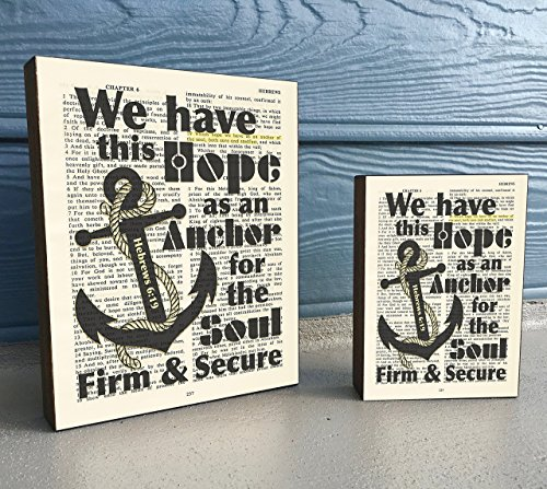 We-have-this-Hope-as-an-Anchor-Hebrews-619-Vintage-Bible-verse-Scripture-Art-Print-on-Wooden-Block-Christian-Home-Wall-Decor-Sign-Old-Nautical-Dictionary-Page-Housewarming-Christmas-gift