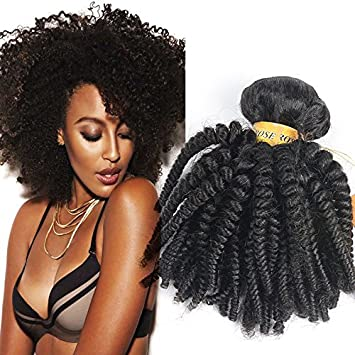 Amazon black rose hair afro kinky curly brazilian curly black rose hair afro kinky curly brazilian curly weaves hair bundles human hair extensions weft wave pmusecretfo Images