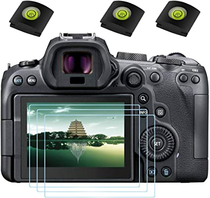 3 Pack 6D Mark II Camera /& Hot Shoe Cover 0.3mm 9H Hardness Tempered Glass Screen Protector,Anti-Scrach Anti-Fingerprint Anti-Dust Anti-Bubble ULBTER Screen Protector for Canon EOS 7D Mark II