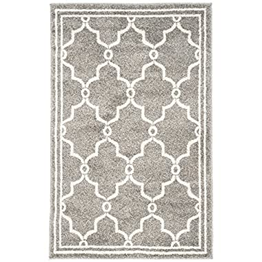 Safavieh Amherst Collection AMT414R Dark Grey and Beige Indoor/ Outdoor Area Rug, 2 feet 6 inches by 4 feet (2'6  x 4')