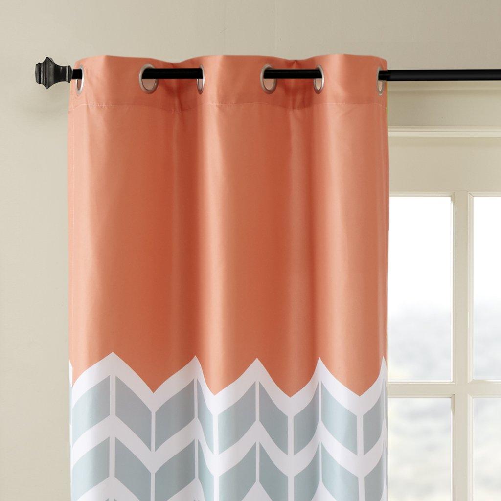 Exclusive fabrics painted chevron printed cotton curtain free - Amazon Com Alex Chevron Printed Grommet Top Panel Pair Yellow 84 Panel Home Kitchen