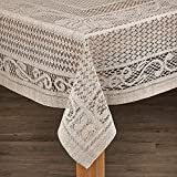 Lintex Linens Chantilly Crochet Cotton Tablecloth Imported from Spain Lime Rectangle