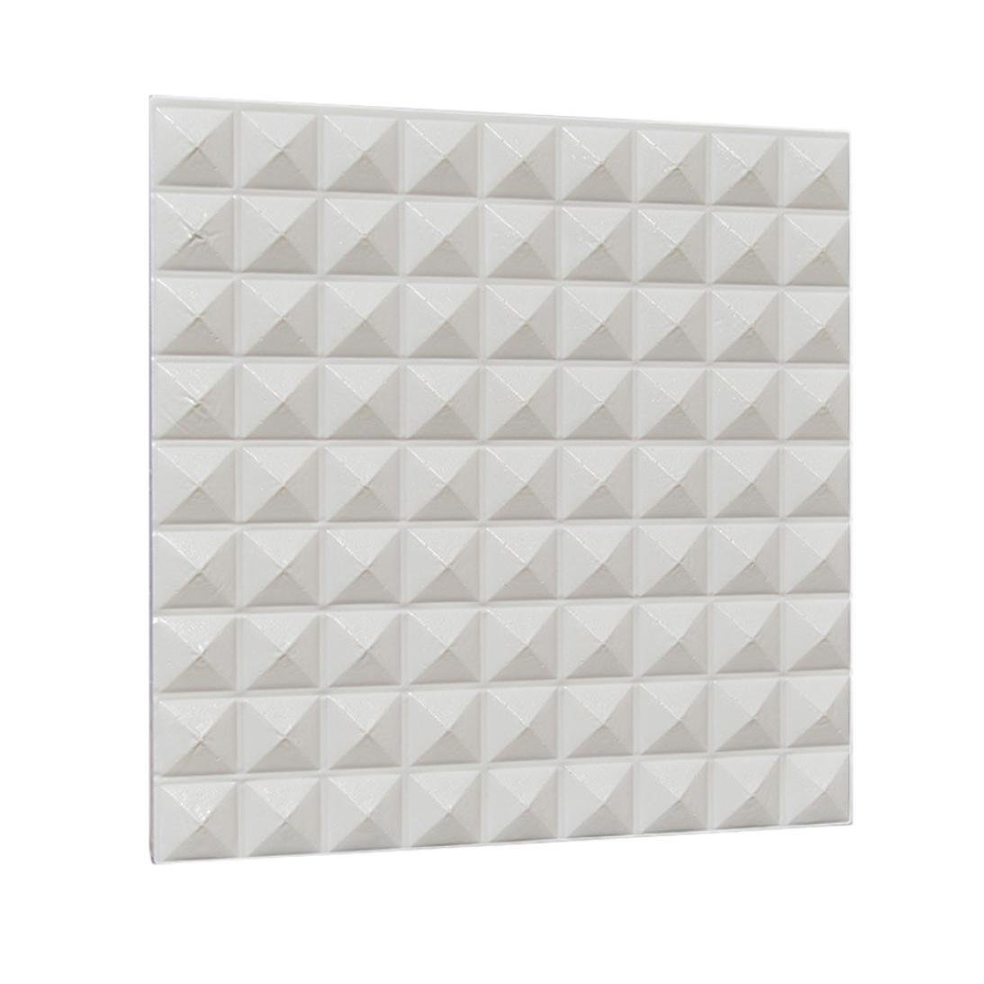 Sikye PE Foam 3D Wallpaper Simple Tile Self-adhesive Wall Stickers Background Decor Waterproof Pack of 2 (E)