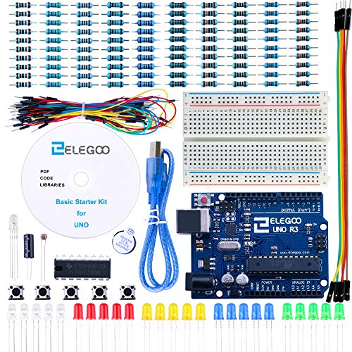 Elegoo EL-KIT-004 UNO Project Basic Starter Kit with Tutorial and UNO R3 for Arduino by ELEGOO