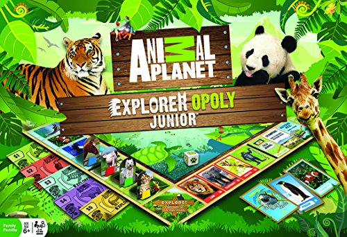 (MasterPieces Animal Planet Explorer Opoly Jr. Board Game)