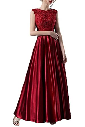 6fc1db58a8 Image Unavailable. Image not available for. Color  WiWiBridal Women s Cap  Sleeves Lace Appliques Long Prom Dress Round Neck ...