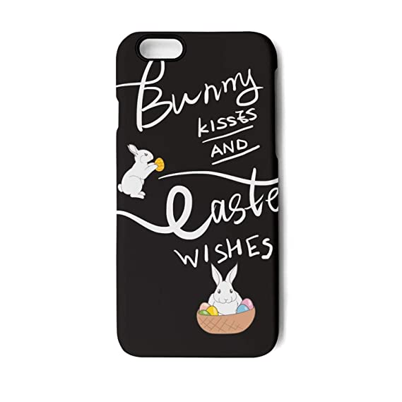 c94f58c11 Amazon.com: Easter Bunny Kisses Happy Easter Wishes Unisex Man's Girl's  iPhone 6Plus Iphone6SPlus 5.5 Cute Protective Case Cover Skins: Cell Phones  & ...