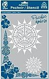 Pochoir adhésif pour tissu Soleil maori A4 - Ki-Sign