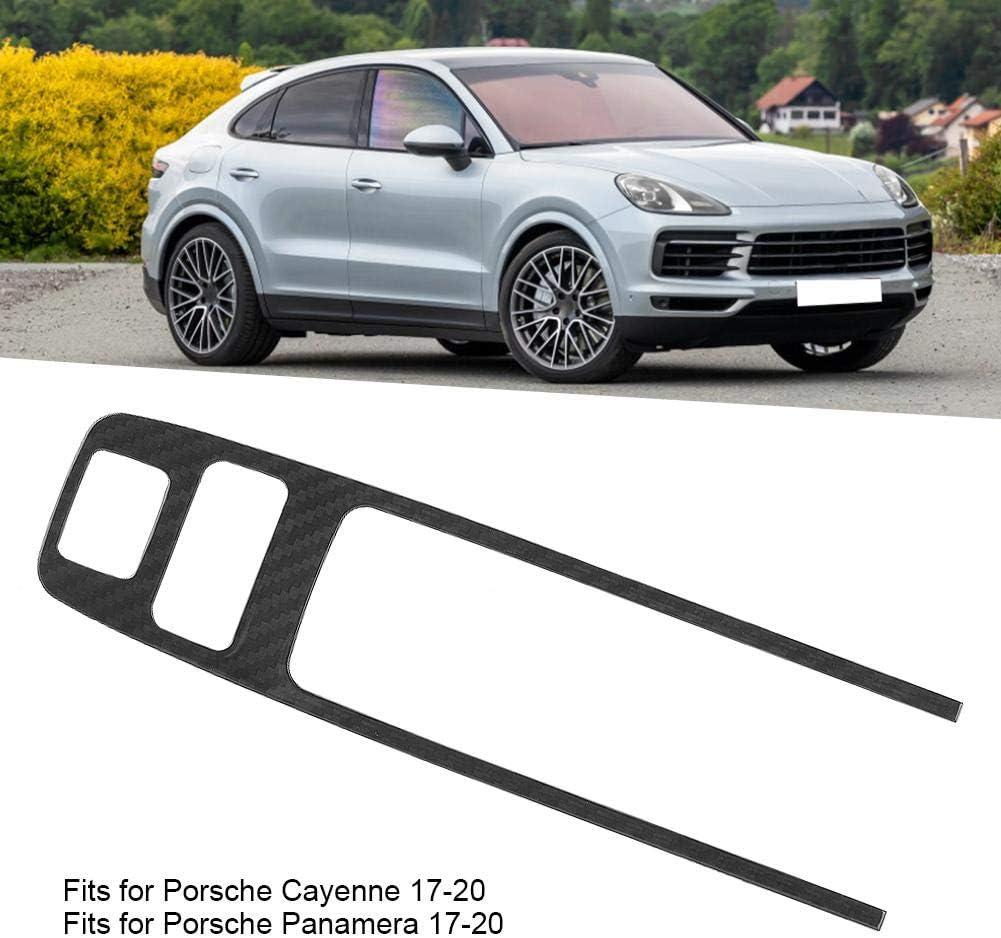 Nikou Rivestimento del Pulsante di parcheggio Telaio in Fibra di Carbonio Compatibile con Porsche Cayenne Panamera 17-20