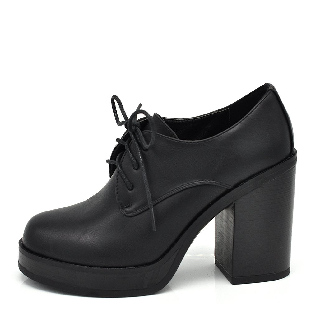 If Fashion Scarpe da Donna Pelle Sintetica Stringate Francesine Tacco Grosso 6165