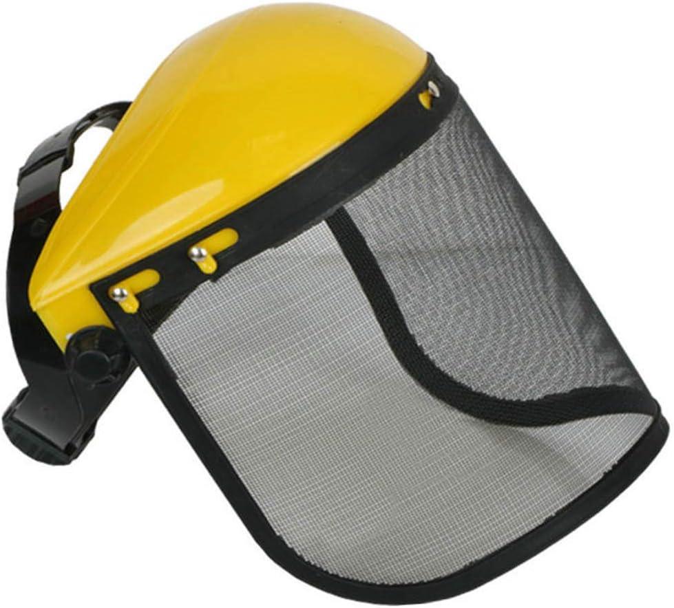 FEIDAjdzf Cubierta, protector de seguridad de cara completa con visera de malla metálica para desbrozadora