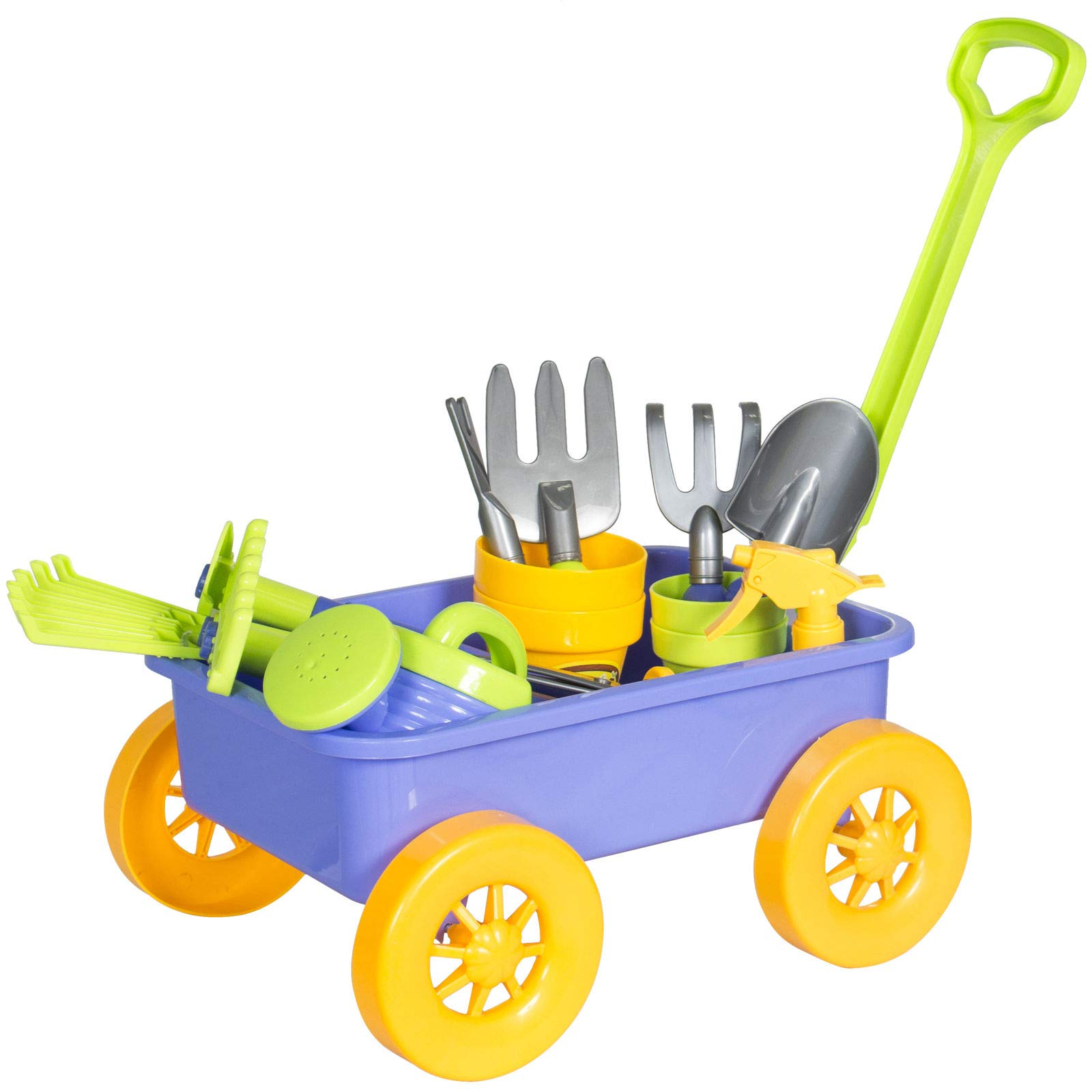 Alek...Shop Learning Children Gardening Tools Kids Toy Play Set with Garden Wagon and Enjoy Fun Dig The Sand Beach Happiness Your Baby Family Holiday by Alek...Shop (Image #2)