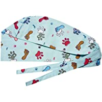 2 Piezas Gorras Quirúrgicas Unisex Sombreros Quirúrgicos Patrón de Huella Sombreros de Algodón Ajustables Ajustables…