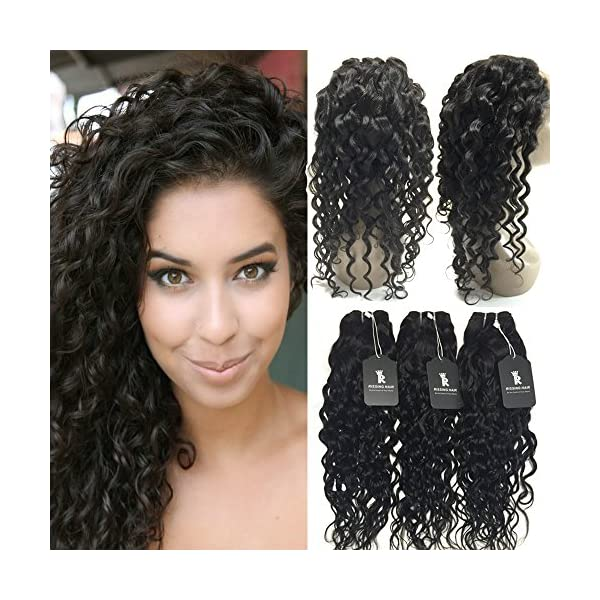 Rissing 360 Lace Frontal With Bundle Water Wave Virgin Hair Weave 3