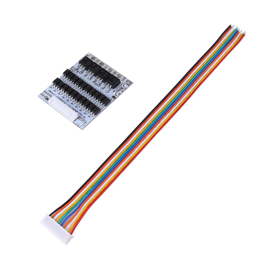 DC42-45V Input Battery Protection BMS PCB Board for 10 Packs 36V Li-ion Cell Max 40A w/ Balance