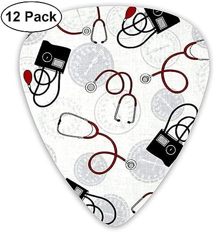 Nurse Doctor Classic Guitar Picks 12 Pack para guitarra eléctrica, guitarra acústica, mandolina y bajo: Amazon.es: Instrumentos musicales