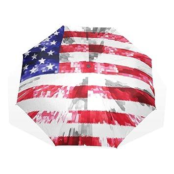 e955ddae2b1d Amazon.com: SUABO Umbrella Man Made American Flag Windproof Travel ...