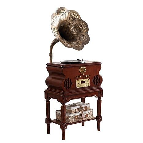 Sitang Bocina de gramófono grande tocadiscos de madera retro ...