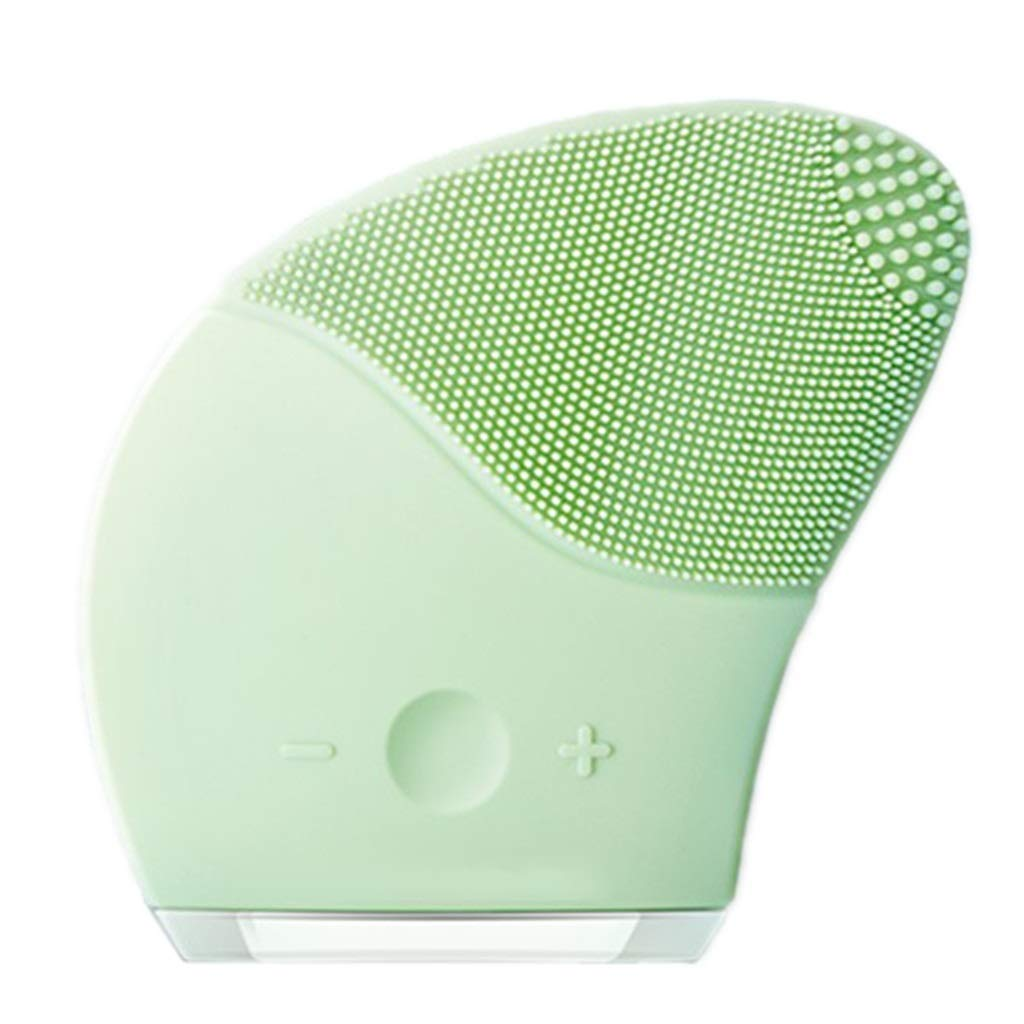 HAOMEI Facial Cleansing Brush Facial Cleaner, Electric Cleansing Instrument, Facial Cleansing Brush and Anti-Aging Skin Care Device, Made of Soft Silicone, Suitable for All Skin Types