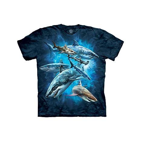 9e03a7600 Amazon.com: The Mountain Kids Shark Collage T-Shirt: Clothing