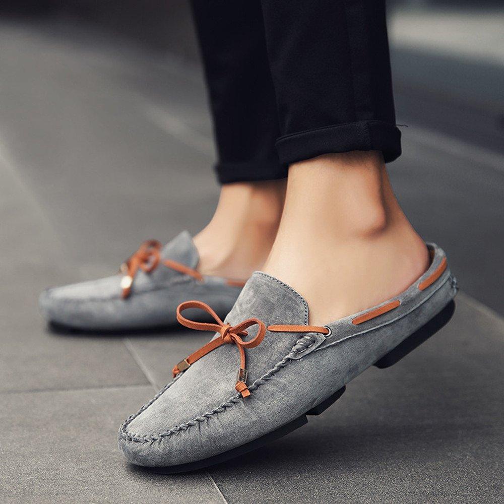 AFCITY Frühlings Männer echtes Leder beschuht Freizeit Beleg (Farbe auf Schuhen Klassischer Stiefelschuh (Farbe Beleg : Grau, Größe : 41 1/3 EU) Grau e6e7c1
