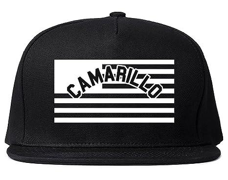 City Of Camarillo With United States Flag Snapback Hat Cap Black At