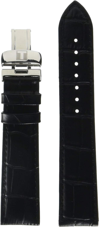 Tissot Leather Calfskin Black Watch Strap, 20mm Width (Model: T600031944)