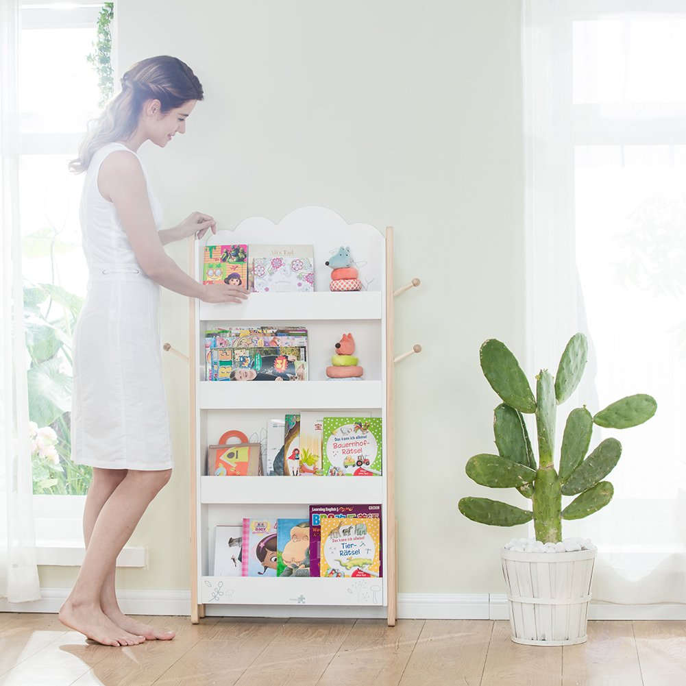 labebe Kid Book Display Wood White Bookshelf for Kid 1 Year Up Kid Bookshelf White/Baby Bookshelf/Child Bookshelf/White Bookshelf for Girlu0026Boy ... & labebe Kid Book Display Wood White Bookshelf for Kid 1 Year Up Kid ...