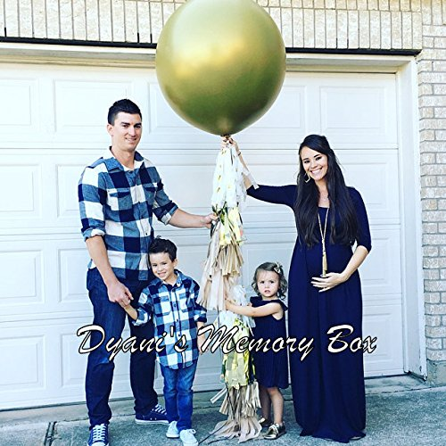 Confetti Filled- Gold Gender Reveal Balloon with Tassel Tail / 36