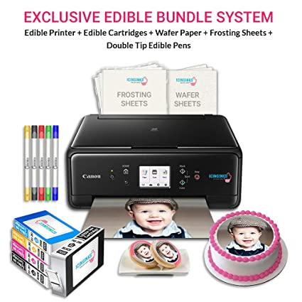 photo about Printable Edible Paper identified as Icinginks Cake Printer Artwork Offer involves Cake Printer, Cake Cartridges, Wafer Paper, Frosting Sheets, Fixed of 5 Double Suggestion Cake Markers - Least complicated Cake