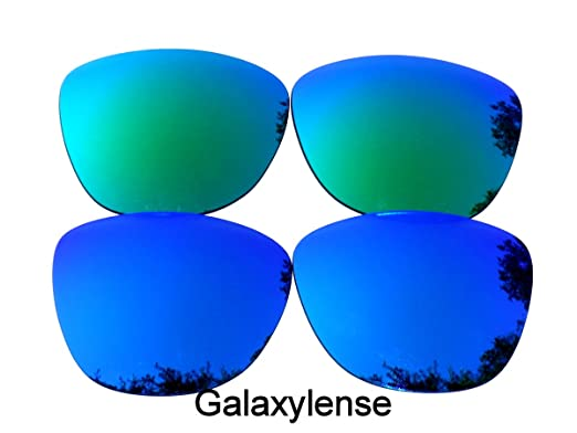 769b62a261 Galaxylense Men s Replacement Lenses for Oakley Frogskins Gray Green Color Polarized  2 Pairs
