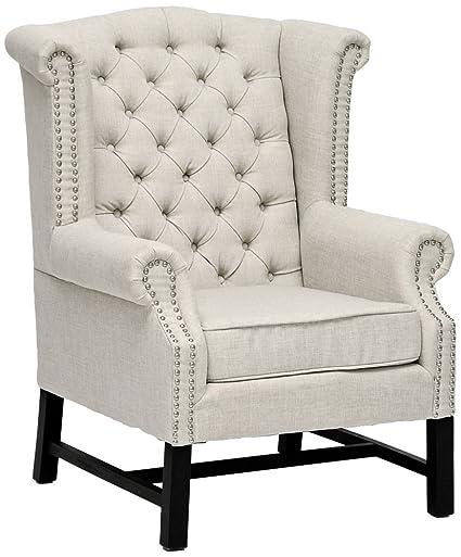 Beau Baxton Studio Sussex Beige Linen Club Chair BH 63102