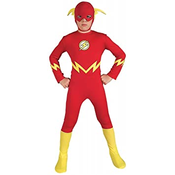 Child The Flash Muscle Chest Outfit Fancy Dress Costume Superheroes Kids Boys UK