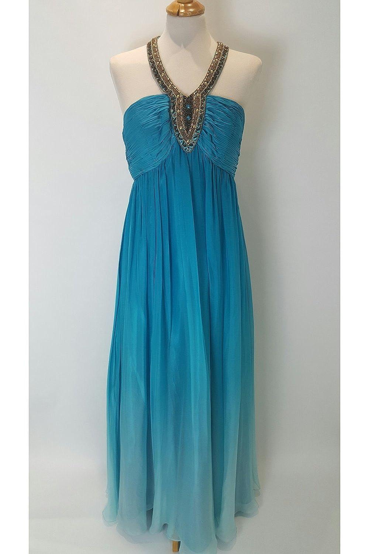 Alisha Hill A73600 Turquoise Halterneck Dress