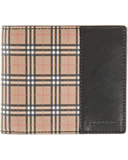 bc910acfd0f7 (バーバリー) BURBERRY 2つ折り財布 型押しレザー ブラック×チェック柄 4078054
