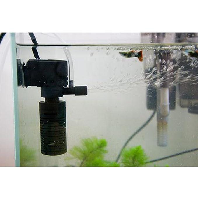 Sharplace Bomba de Filtro Bioquímica de Oxígeno Filtro de Acuario Multifuncional 3-en-1 Esponja Reutilizan: Amazon.es: Hogar