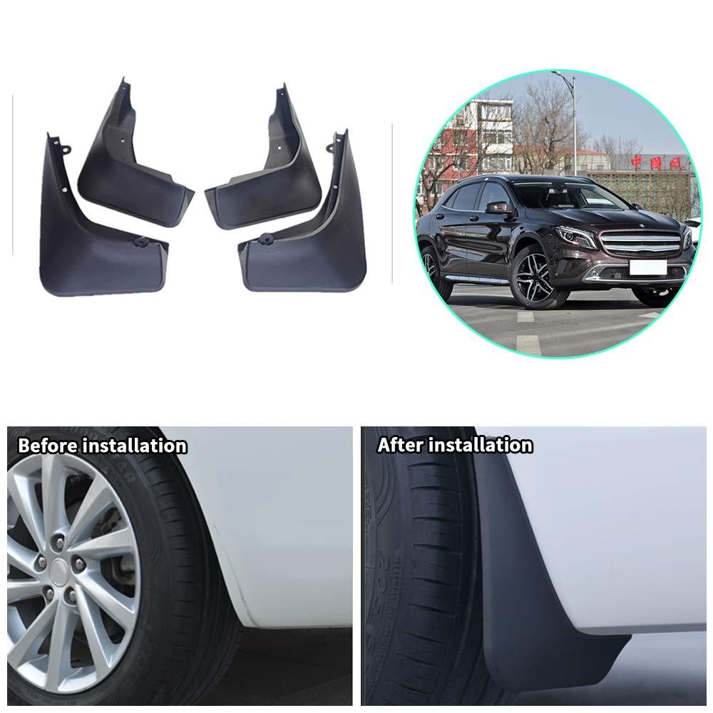 4Pcs Soft Rubber Car Front+Rear Mudflaps Mud Flap Splash Guard Fender Protector
